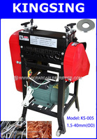 Process 1.5-40mm Scrap Wire Recycling Stripping Machine  KS-005 ,5 Holes Have Double Knives+ Free shipping by DHL air express