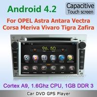 Pure Android 4.2 WiFi 3G Car DVD GPS Navi Stereo For Opel Astra Antara Corsa Zafira Meriva Vectra with RDS OBD IPOD TV Free map