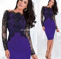Vestidos Femininos 2014 Autumn Winter Women Dress Woman Casual Long Sleeve Sexy Elegant Vintage Purple Evening Party Top Dresses