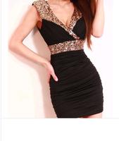 Women Plus size Black Lace Evening party Long Dresses spring 2014 Bodycon Split Red brief Dress vestidos de fiesta Gowns