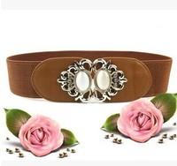 2014 new fashion women's opal inlay alloy rhinestone belt buckle Women's Belts