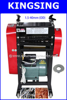 Process 1.5-40mm Scrap Wire Recycling Stripping Machine  KS-005 ,4 Holes Have Double Knives+ Free shipping by DHL air express