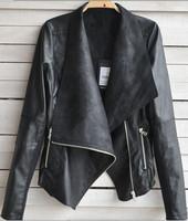 2014 fashion woman hot sale new PU leather coat New Designers Europe&America Fashion Women Coat Slim Short PU Leather jacket