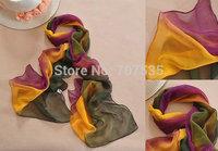 Free shipping soft chiffon women scarf fashion decorative winter gradient color scarf/shawl/wrap 24 colors
