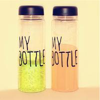Water Bottle Clear Transparent My Bottle Tritan Materials Fruit Lemon Cup 500ML Tour Hiking Kettle