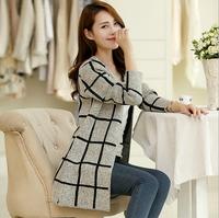 fashion Autumn winter fashion Women long sleeve Knitted Sweater Cardigans outerwear shawl knitwear