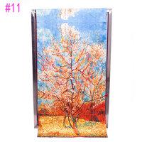 2014 Autumu and Winter New style Chinese PanKou style shawl inkjet printing Flowers double-sided painting silk scarf #11