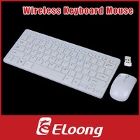 Eloong 2.4GHz Wireless Keyboard Mouse Combo White for Desktop Computer Accessories with Protective Cover P067