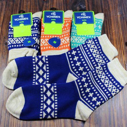 Free shipping Winter 2015 Exports of Japan Harajuku lovers wind men and women cotton jacquard socks thickening Vintage Retro(China (Mainland))