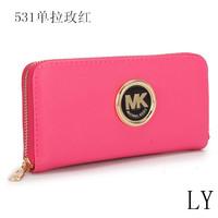 2014 new designer woman's michaelled leather single zip purse top quality fashion korss wallet Wholesale