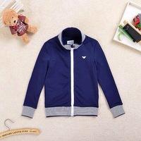 Retail  Brand  2014  New  fashion  spring/autumn  children's  coat  striped  pattern  long  sleeve  zipper  boy's  sweatshirts