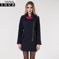 Fall/winter 2014 Europe new long loose wool coat Womens wool coat plus size women's clothing