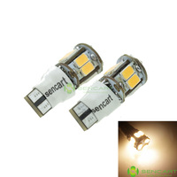 T10 LED 2-Mode Warm White 5W 11X5630SMD 400-550LM 6000-6500K  for Car Signal Light (DC12-16V)
