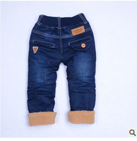 Winter of the new boy's pants Thicken cotton children warm trousers Manufacturer of jeans