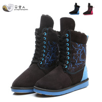 new fashion ladies winter autumn boots party warm ankle snow women boots flats shoes woman