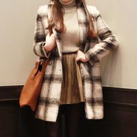 2014 women woolen jacket winter plaid coat