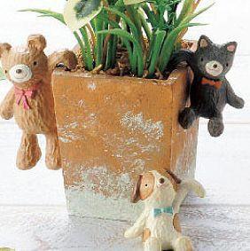Resin Naughty Mascot 4PCS/LOT ZAKKA Standing Creative Animals Figurines furnishing articles Home Decoration Gifts Crafts(China (Mainland))
