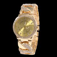 Classic Women Girl Stainless Steel Watch SHIKAI Brand Crystal Rose Gold Women Quartz Watch Free Drop Shipping