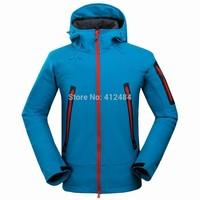 2014 new men outdoor hiking jackets softshell mammoths windstopper waterproof warm windbreaker camping jackets polar fleece men