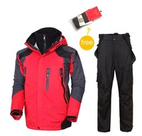 2014  winter waterproof windproof hiking camping outdoor suit jacket pants ski suit clothes outerwear coat trousers snowboard