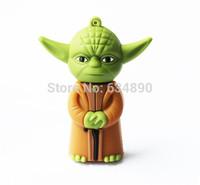 Cute yoda pendrive 32gb Star Wars yoda monster usb flash drive 64gb usb 2.0 16gb 8gb memory stick pen drive