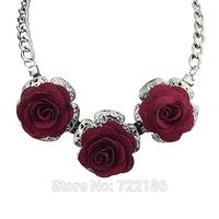 2014 Fashion Jewelry Bijoux For Women Alloy Choker Flower Necklace For Women