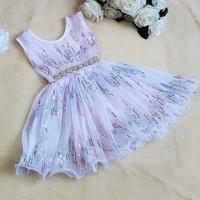 New hot sale ! girls Korean Boutique Sequins princess dress baby girls very beautiful pary vest dress 5pcs/lot