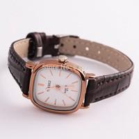 New Fashion Retro square shape PU Leather Watch Women Dress Watch stylish Quartz Watches