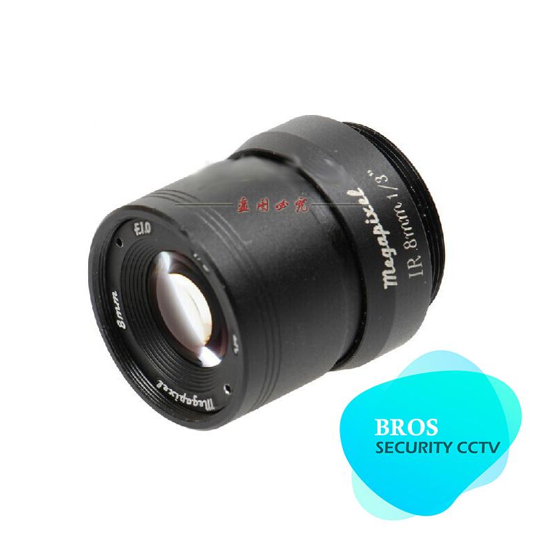 "2MP 960P HD 1/3"" F1.0 CCTV Fixed Iris IR Infrared 8mm Lens CS Mount lense For CCD Camera(China (Mainland))"