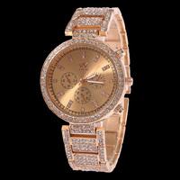 Wholesale 2015 New Fashion Women Watches,Girls Rose Gold/Gold Dial Bracelet Quartz Stainless Steel Watch,Ladies Fashion Watches