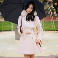 Women winter woolen outerwear plus cotton wool coat