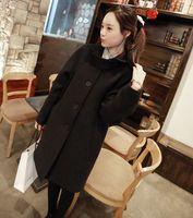 2014 hot-selling woolen jackets black navy blue wool coat