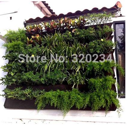 5 pcs 6 bolsos plantador de parede jardim vertical crescer saco crescer tenda plantador plantador de parede saco sacos de crescimento para as plantas(China (Mainland))