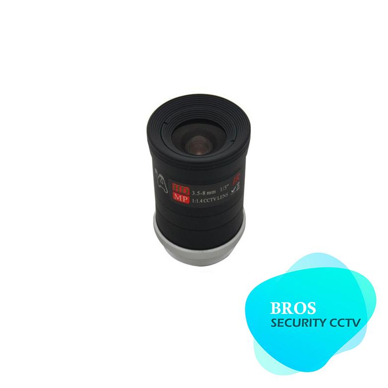 "2MP 960P HD 1/3"" F1.4 CCTV Fixed Iris IR Infrared 3.5-8mm Lens CS Mount lense For CCD Camera(China (Mainland))"