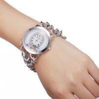 WH007 New Lady/Women's Chains Diamond Bracelet Style Wrist Quartz Analog Watch 85985
