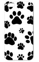 1PC Dog Footprints Dogpaws style Clear Hard Back Cover Case for Iphone 5 5s   Free Shipping