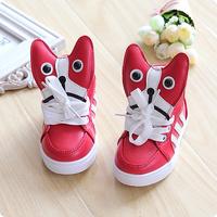2014 child sport shoes skateboarding shoes male female child princess single shoes single boots dog baby shoes