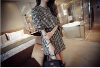 women dress new 2015 summer dresses fashion cotton plaid patchwork party dresses vestidos casual dress vestido femininos