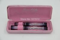 Love Alpha 3D FIBER LASHES Pink Mascara Set Waterproof Transplanting Gel & Natural Fibers Eye Lash Makeup