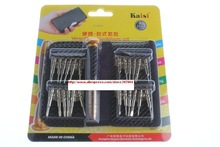 25 in 1 Kaisi K-3310A Portable Versatile Screwdriver Set with Leather Case Smartphones Repair Tools Kit Set