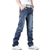 Top selling men jeans pants straight trousers denim classical men's jeans pants blue size 28-34
