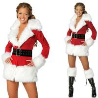 Homem Aranha Promotion Mochila 2014 New Christmas Costume with Plush Velvet Long Sleeve Winter Santa Suit Foreign Trade Sales