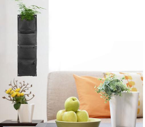 10 unidades / lotes 4 bolso saco de batata Vertical jardim plantador da flor Vertical Green Wall plantadores sacos DIY jardim interior saco(China (Mainland))