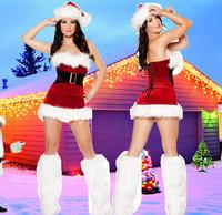 Homem Aranha Roupa Infantil Feminina Winter Studio Photography Serving Foreign Trade Christmas Santa Suits Claus Dress with Feet