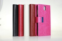 New Crazy horse grain Wallet Leather Case with stand cover case For HTC desire 610
