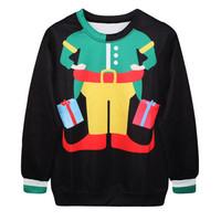 Fashion Harajuku Sweaters and Pullovers Digital Printed Sweatshirt Xmas Christmas Clown Pattern Homme Femme Womens Hoodies