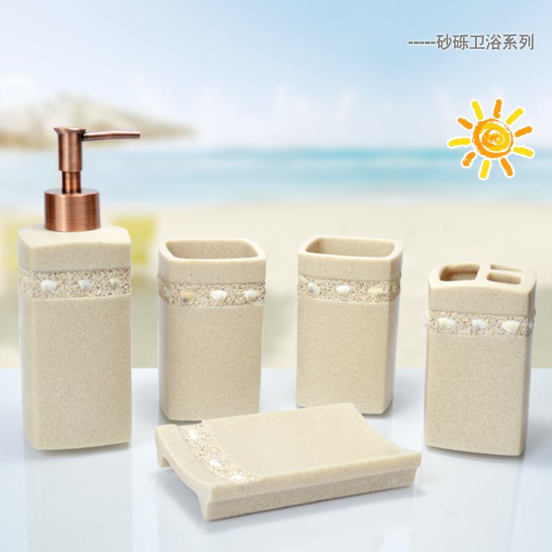 Free shippingThe new bathroom suite resin wash Five-piece suit wedding gift European bathroom toiletries kit(China (Mainland))