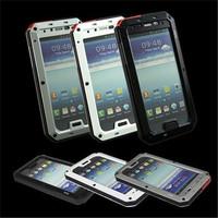 For Samsung Galaxy S4 I9500 Waterproof ShockproofAluminum Gorilla Glass Metal Case