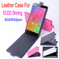 New arrival ECOO E2 mobile phone case up down flip  leather case cover black/white/red in stock
