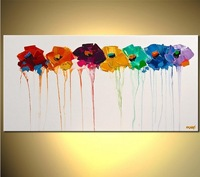100% handpainted modern pallet knife oil painting  wall art for home decor